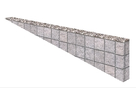 塀の高さがついているピンコロライン
