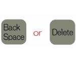 BackspaceキーとDeleteキーの画像