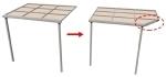 テラス・カーポートの切断と切断面の作成方法